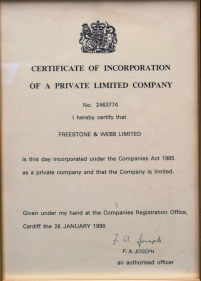 Freestone-Webb-certificate-of-incorporation
